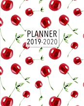 Planner 2019-2020: 18 Month Academic Planner. Monthly and Weekly Calendars, Daily Schedule, Important Dates, Mood Tracker, Goals and Thoughts all in One! Cherry Pattern Cover