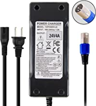 Abakoo New 24 Volt 4A 96W XLR Mobility Battery Charger for Jazzy Power Chair Go-Go Mobility Wheelchair Electric Pride Mobility Wheelchair Battery Charger mpv5 Auto XLR