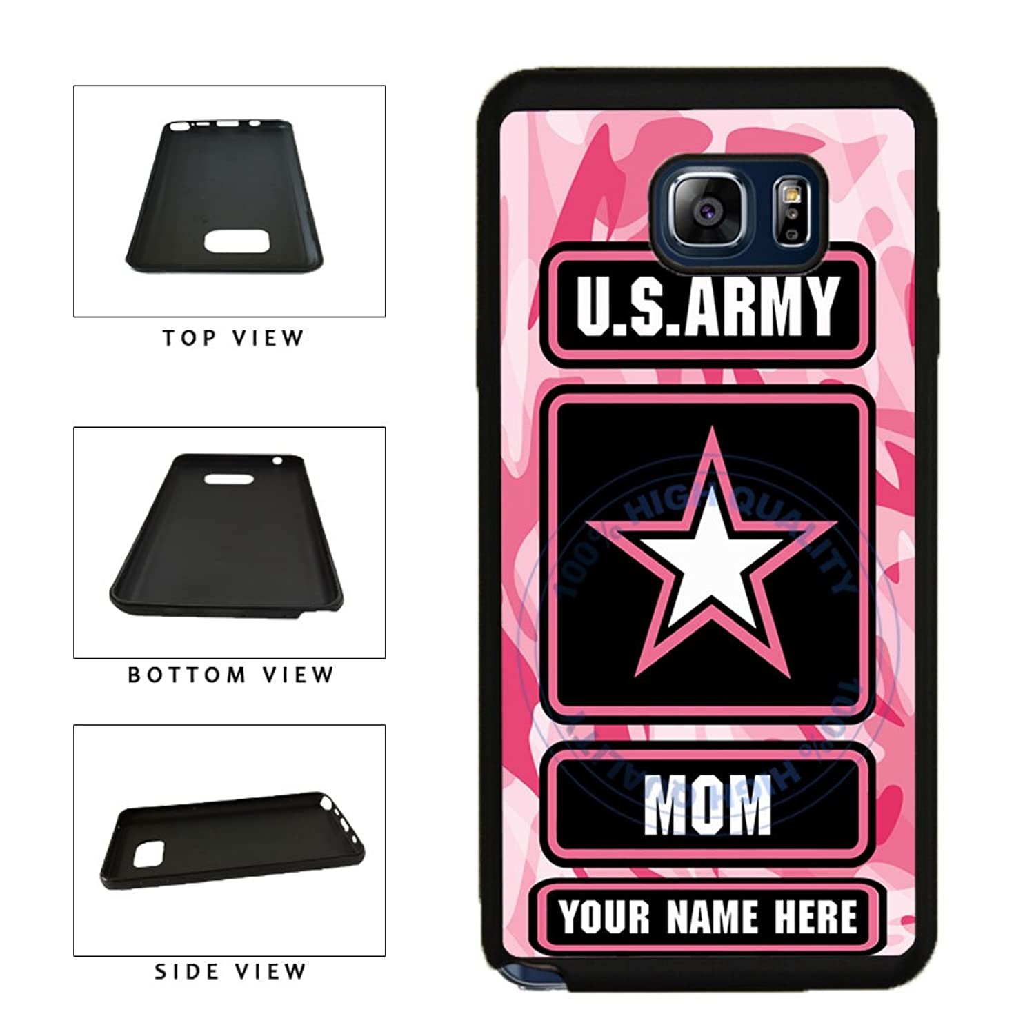 BleuReign(TM) Personalized Custom Name Army Mom TPU RUBBER SILICONE Phone Case Back Cover For Samsung Galaxy Note 8