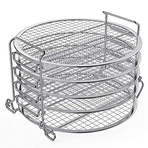 Find Cheap Dehydrator Rack,6.5 & 8 qt Stainless Steel Dehydrator Stand Accessory Compatible with N...