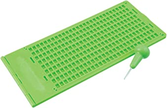 Braille Slate and Stylus Kit 9 Lines x 30 Cells - Green Plastic