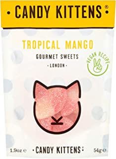 Candy Kittens Tropical Mango Vegan Sweets - Palm Oil Free, Natural Fruit Flavour Candy - Gummy Chewy Gourmet Sweets, 54g (...