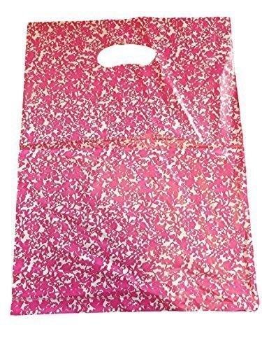 Bolsas de plástico Fat-CATZ-Copy-CATZ, 45 unidades por paquete, diseño: leopardo, lunares, flores, puntos y otros estampados, 25x 25cm, ideal para tiendas, mercados, regalos y fiestas