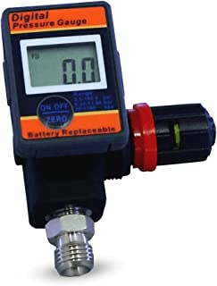 LE LEMATEC Digital Air Gauge Regulator with Locking Adjustment Valve for Air Compressors