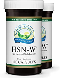 Nature's Sunshine HSN-W, 100 Capsules, 2 Pack, Kosher | Our Unique Herbal Formula HSN-W Enhances Skin Tone and Helps to Nourish and Strengthen Hair, Skin and Nails