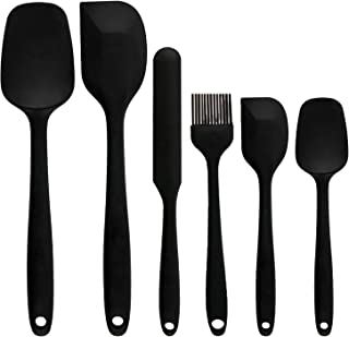 Covotna Sillicone Spatula Set Of 6 Piece Kitchen Utensil Non-Stick Silicone Spatula Set with Reinforced Stainless Steel Co...