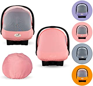 Summer Cozy Cover Sun & Bug Cover (Pink Grapefruit) - The Industry Leading Infant Carrier Cover Trusted by Over 2 Million ...