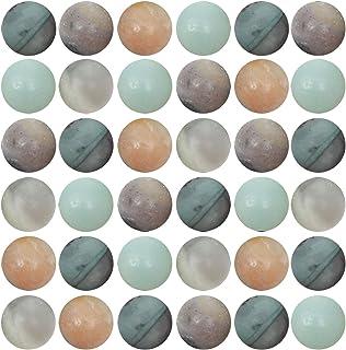 Natural Stone Beads 100pcs 8mm Amazonite Round Genuine Real Stone Beading Loose Gemstone Hole Size 1mm DIY Charm Smooth Beads for Bracelet Necklace Earrings Jewelry Making (Amazonite Stone)