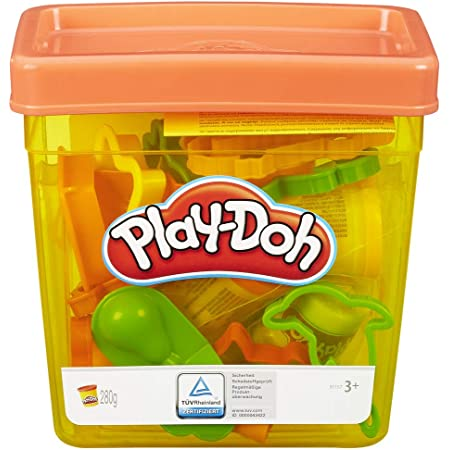 Play-Doh Fun Tub Playset, Great First Play-Doh Toy for Kids 3 Years and Up with Storage, 18 Tools, 5 Non-Toxic Colors