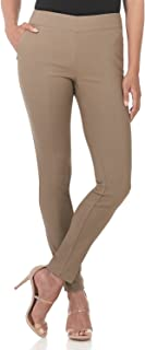 REKUCCI Women's Ease in to Comfort Modern Stretch Skinny Pant w/Tummy Control 6 Oatmeal