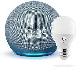 All-new Echo Dot with clock (4th Gen) - Twilight Blue - bundle with LIFX Smart Bulb (Wi-Fi)