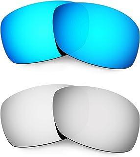 Hkuco Plus Mens Replacement Lenses For Oakley Hijinx Blue/Titanium Sunglasses