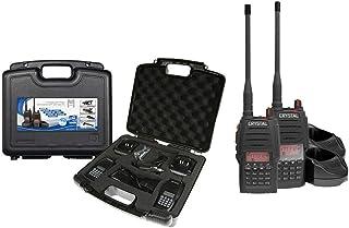 CRYSTAL 5W 80 Channel Twin TRADIE UHF Handheld Radio 2 Way Radio CB 2 RADIOS