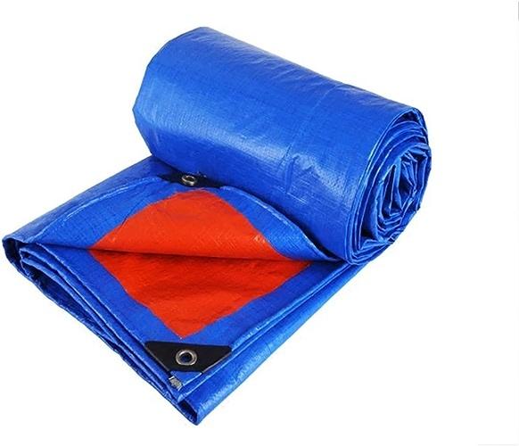 Bleu + Orange Bache Bache En Plein Air Poncho Famille Camping Jardin Parasol, épaisseur 0,35 Mm, 180g   M2, 12 Options De Taille (taille   6  10)