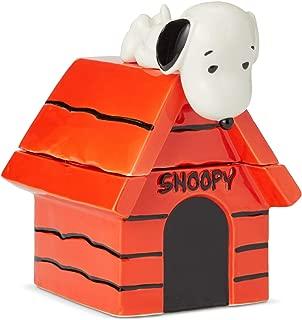 Enesco 6004161 Peanuts Snoopy on Dog House Cookie Jar, 10