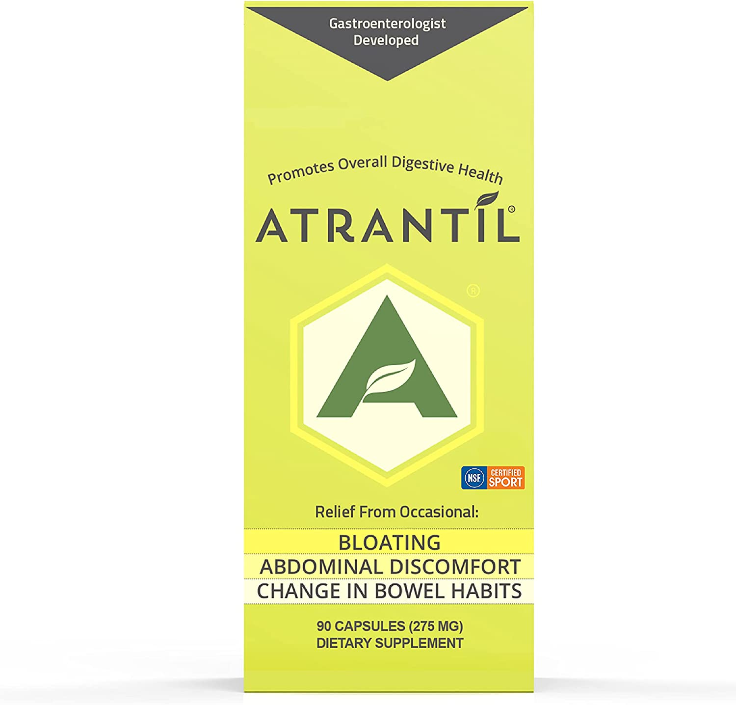 Atrantil 90 Capsules-Antioxidant Packed Polyphenol for Bloating and Gas Relief, Abdominal Discomfort, Constipation, Diarrhea, Postbiotic, Change in Bowel Habits and Everyday Digestive Health. : Health & Household
