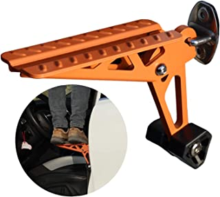 COWVIE Foldable Car Door Step Stand Pedal - Access To Vehicle's Top Roof Both Feet Stand Pedal Ladder For Most SUV Truck Jeep Orange