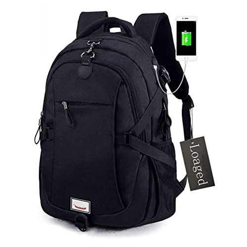 Anti-theft Laptop Backpack, Loaged Business Bags with USB Charging Port  Water Resistant School bd6c5e664a