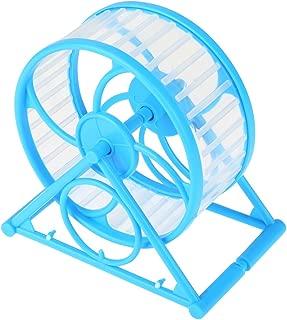HEEPDD Hamster Exercise Wheel, Silent Triangle Bracket Plastic Running Roller Translucent Washable Treadmill Wheel for Gerbils Chinchillas Guinea Pigs Animals
