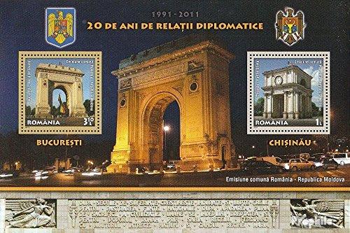 Prophila Collection Rumänien Block516 (kompl.Ausg.) 2011 Beziehung mit Moldawien (Briefmarken für Sammler)