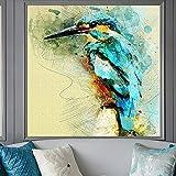 KWzEQ Cartel y Lienzo de impresión Arte de la Pared Pintura Abstracta colibrí Sala de Estar decoración Acuarela Pintura Decorativa,Pintura sin Marco,30x30cm