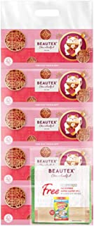 Beautex 3 PLY CNY Box Tissue + Free Mr Clean Microfiber Cloth, 100ct (Pack of 5)