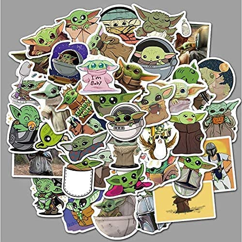 Qoosea Stickers for Hydro Flask Latest item Quantity limited 72 Yoda PCS Baby Sti Merchandise