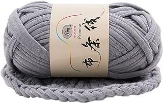 yanQxIzbiu Cloth Yarn ,Hand-Knit Woven Thread Thick Basket Blanket Braided DIY Crochet Cloth Fancy Yarn, Perfect for Dishcloths, Towels and Scrubbies Grey