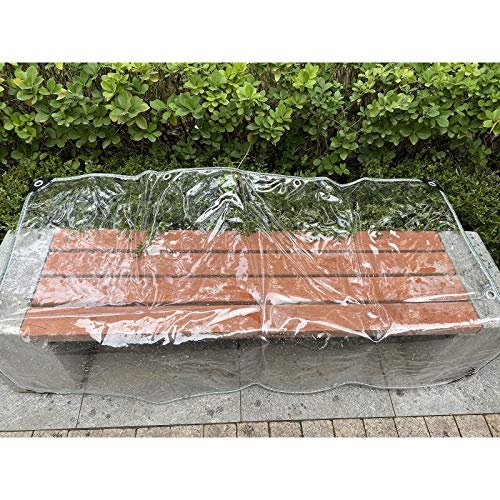 GZHENH Tarpaulin Rainproof Windproof Camping Tent Cover With Eyelet Thickness 0.3mm Transparent Pvc Garden Shade Cloth,customizable (Color : Clear, Size : 2x3m)