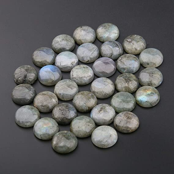 Labradorite Cabochon Gemstone Flat Back Gemstone Jewelry Making Pendant Cabochon 25 x 39 x 7 mm  Natural Labradorite #1620Christmas