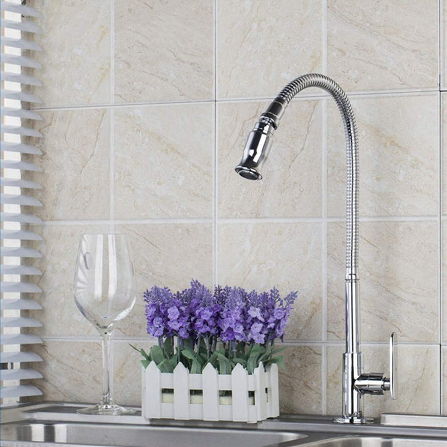 All Around redate Swivel Kitchen Faucets with Plumbing Hose Water Outlet Tap Faucet Deck Mounted