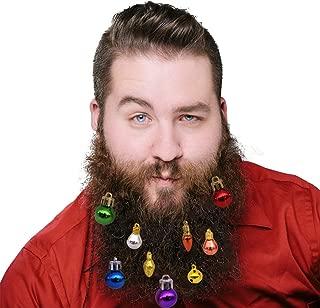 DomeStar Beard Ornaments, 24PCS Colorful Christmas Facial Hair Baubles Man Beard Bell Clip Beard Decoration for Men