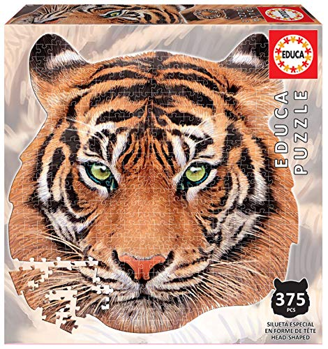 Serie Animal Face Shaped, Puzzle 375 piezas, Tigre (18475)