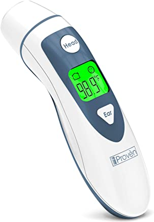 Medical Digital Ear Thermometer with Temporal Forehead Function for Baby, Infant and Kids - Upgraded