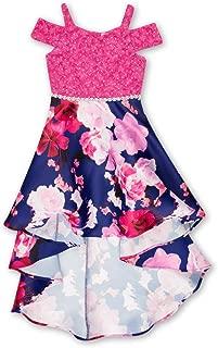 fuchsia high low dress