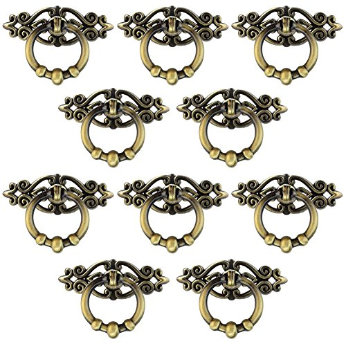 Jmkcoz 10 Pack Cabinet Knob Cupboard Drawer Pull Handle Cabinet Cupboard Dresser Ring Pulls with Screws