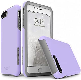 TEAM LUXURY iPhone 7 Plus case/iPhone 8 Plus case, [Clarity Series] Purple [G-II] Ultra Defender TPU + PC Shock Absorbent Protective Case - for Apple iPhone 7 Plus & 8 Plus 5.5