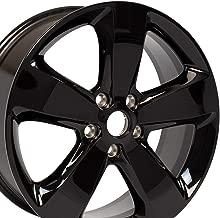 OE Wheels 20 Inch Fits Dodge Durango Jeep Grand Cherokee Altitude JP19 Gloss Black OEM 20x8 Rim Hollander 9137B