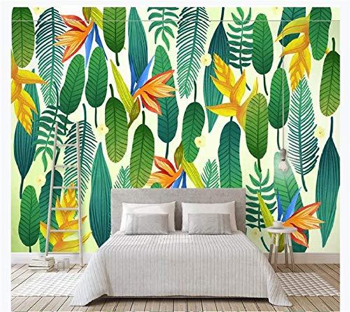ZJfong Home Decor Aangepaste Wallpaper HD Eenvoudige Moderne Frisse Plant Slaapbank Woonkamer TV Achtergrond Muur 220 x 140 cm.