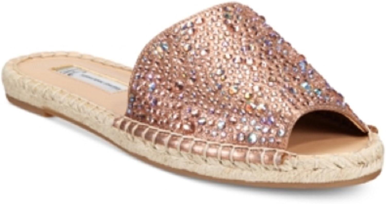 INC International Concepts Women's Ilata Embellished Espadrille Flat Sandals Copper 7 M