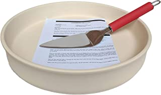 Sassafras Superstone Pie Baker with Silicone Red Handle Spatula- Enjoy Perfect Deep Dish Pizza Crust & Bake Amazing Pies w...