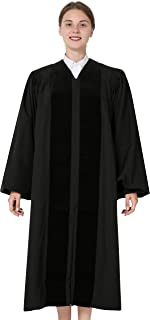 Ivyrobes Unisex John Wesley Clergy Robe for Pulpit with Bell Sleeves Black