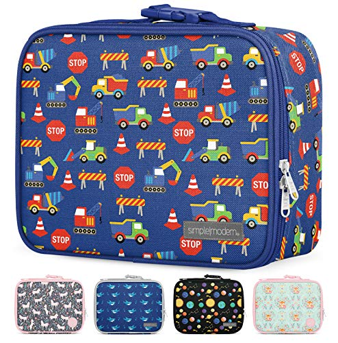 Simple Modern Hadley Kids Lunch Bag-Insulated Reusable Meal Container Box for Girls, Boys, Women, Men, Small, Under Construction