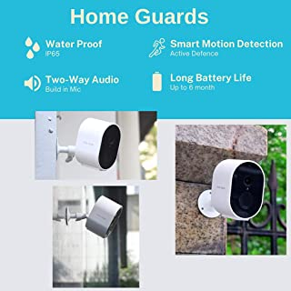 Home Guards C302 1080P HD Wireless Security Camera Outdoor/Indoor, Standalone WiFi connection, 180-Days Battery Life, Huma...