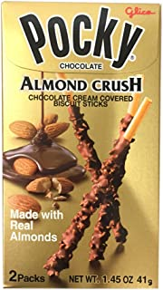 Pocky Chocolate Almond Crush Biscuit By Glico 1.45oz