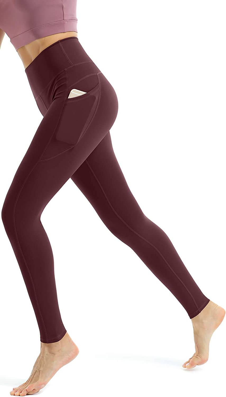 Blickdicht Sporthose High Waist Yoga Leggings mit Taschen Persit Damen Leggings