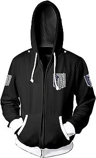 Unisex Cosplay Long Sleeve Full-Zip Hooded Adult Jacke