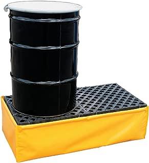 UltraTech 1340 Polyethylene P2 Flexible 2-Drum Ultra-Spill Pallet, 1200 lbs Capacity, 5 Year Warranty, Yellow