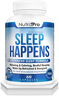 Natural Sleep Aid for Adults. Sleep Pills for Insomnia,Sleeping Disorders Anxiety and Deep Sleep.Best Herbal Medicine for Enegized Mornings. with Melatonin,GABA and 5-HTP.