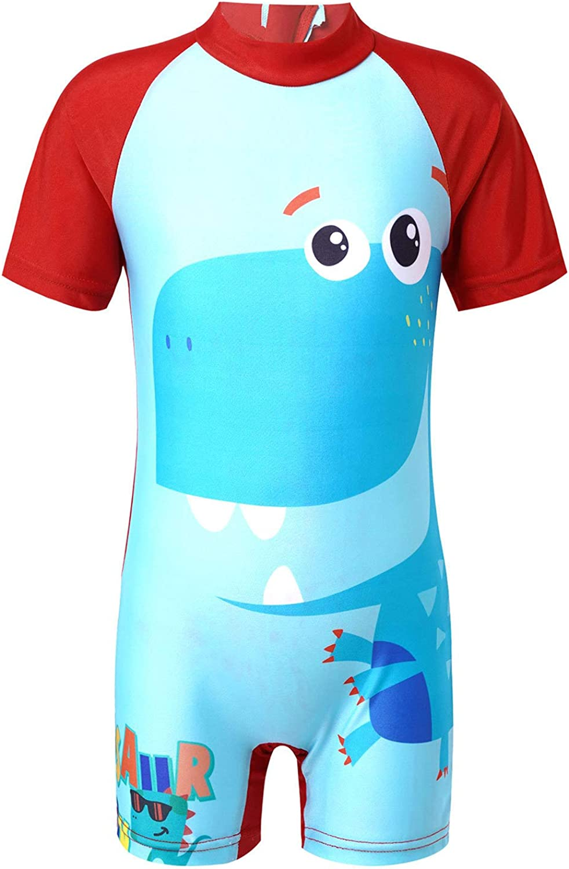 CHICTRY Kids Boys Shark Mail order New York Mall Bro One Rashguard Shirts Short Piece Sle
